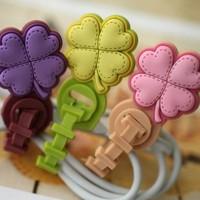 Han edition a clover flower modelling Winder headphones tangled lines cut line, cable Winder, earphone Winder, line Winder