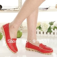 free shipping new arrival genuine leather antiskid cow muscle casual flat shoes Comfortable women's shoes