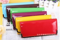 Free Shipping Candy PU Leather Wallet For Women,2013 fashion Lovely Style Lady's Purse,Wholesale And Retail
