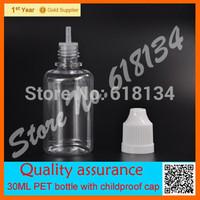 Wholesale free shipping 2500 pieces/ lot 30 ml PET clear eyedrop bottle, dropper bottle, childproof bottle FEDEX
