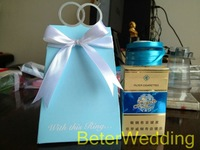 Mint Blue, Wedding Ring Favor Boxes TH021/B Party Decoration