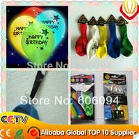 50pcs/lot, LED  balloon decoration, happy birthday decoration, party favors  for decoration With CE&ROHS  Free Shipping