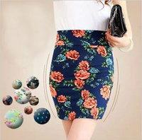 Free Shipping New 2014 Spring -summer Fashion Girl Fancy Print Shorts Skirts Slim Hip  Elastic Skirt Comfortable Fabric