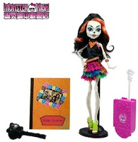 Genuine Original Monster High Happy Travel Scaris Skelita Calaveras Doll,New Styles hot sale girls plastic toys Best gift