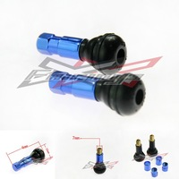 ANODIZED MOTORCYCLE TIRE AIR WHEEL VALVE STEM CAP BLUE