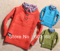 2013 Gentleman Shirt Collar Baby Sweater Kid Sweater Boy's/Girl's Sweater Children Wear Sweater {iso-13-8-17-A6}