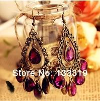 hot sale Fashion elegant shiny leaf rhinestone design alloy earrings for women  Min.order is $5(mix order),Free shipping