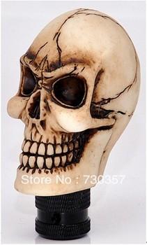 Free shipping imitation silver &Imitated boneskull cars gear shift knob variety shape for sale