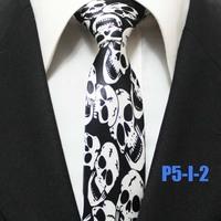 Mens Halloween Skull Festival Party Ties For Men Novelty Casual Neckties Gravatas 5CM P5-I-2