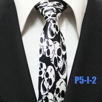 Mens Halloween Skull Festival Party Ties For Men Novelty Casual Neckties Gravatas 5CM P5-I-2