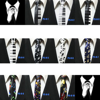 Mens Keyboard Piano Violin Guitar Musical Notes Neckties For Men Fashion Festival Party Skinny Novelty Ties Gravatas 5CM P5-H