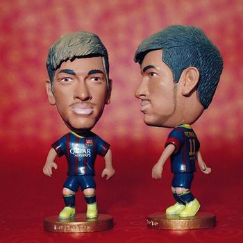 """Soccer Barca FC Neymar 2.5"""" Toy Doll Figure 2013-2014 season"""