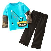 Jumping Beans Retail 1pcs Boy's Suits Long Sleeve Pajamas Set Children's Clothing Sets T-shirts Trouses Tops Kids Tshirts M1769