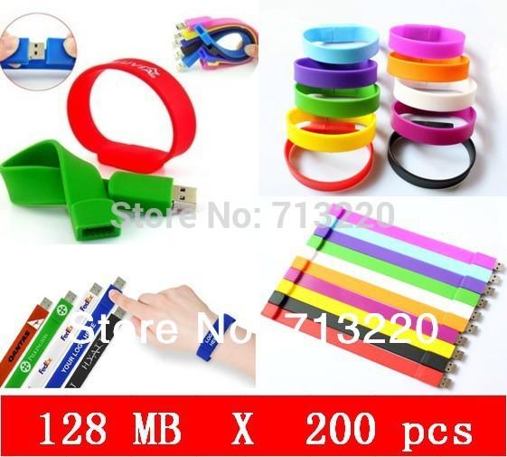 Wholesale 200pcs/Lot X 256MB Bracelet USB Flash Drive USB 2.0 Port USB Flash Drive Wristband Fast Shipping Hot sale!(China (Mainland))