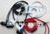 Free Shipping 20pcs/lot Flat Cable New Fashion Cool In-Ear MP3 Headphone Earphone 3 Colors in Retail Bag
