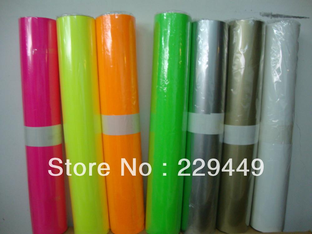 50cm*5m Black roll heat transfer vinyl paper /pvc paper/pu paper for clothing /t-shirt(China (Mainland))
