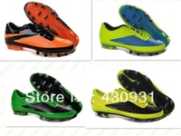 2013 Free shipping soccer futsal boots,TPU bottom FG football shoes, HyperVenom soccer shoes men soccer cleats