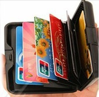 5pcs/Lot  Waterproof Business ID Credit Card Wallet Holder Aluminum Metal Pocket Case Box  Free Shipping