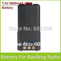 BaoFeng 7.4V 3800mAh Li-ion Battery For Dual Band Two Way Radio Interphone Transceiver Walkie Talkie UV-5R UV-5RA UV-5R+ 5R-B