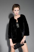 New  Genuine Gorgeous Mink Fur Jacket Women's Mink Fur Coat Winter Fur Outwear TPCM0002
