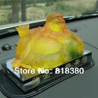 2014 New Gifts Car perfume car air freshener car decoration   Colored glaze gold ingot Buddha        free shipping