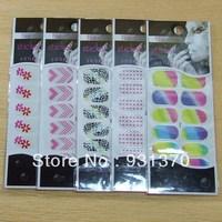 HOT SALE 20desgins Noctilucent Nail Art sticker Patch Foils Wraps Decoration Decals for FingersToes