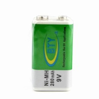 Free shipping 280mAh 280 MAH Ni-MH NiMH 9V Rechargeable Battery New