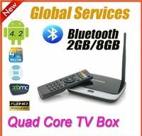 Android 4.2 TV box  Cortex-A9 Mini PC  Smart tv stick 1.8 GHz RAM 2GB ROM 8GB Rk3188 Quad Core + Remote Control free shipping