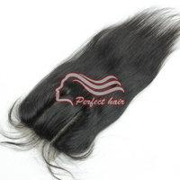 "Brazilian Straight Hair Lace Top Closure 4""*4"" Virgin Brazilian Lace Part Closure 3 way Part 1 piece"