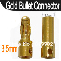 200sets 3.5mm Gold Bullet Connector Plug for RC Battery