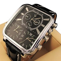 1pcs Men's luxury watches 3-time zones Business watch Stainless steel V6 Quartz watches LRY01