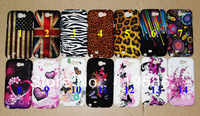 14 Designs UK US Flag Zebra Leopard Butterfly Meteor Heart Flower Soft Silicone Back Case Cover for Samsung Galaxy Note 2 N7100