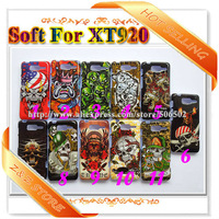 1pcs/lot High Quality TPU Covers For Motorola RAZR D3 Soft IMD Skull Protector Cases For XT920