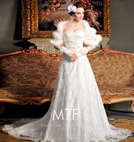 Free Shipping A111 Custom Upscale Bra Trailing Bride Wedding Dress 2013 New