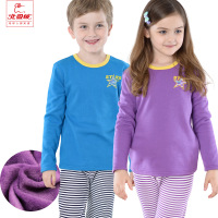 Child Autumn&Winter thick/soft Sleepwear girls N boys coral fleece keep warm clothing set  long sleeves Pajamas(110-160cm)