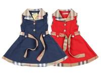 Retail Brand Baby Girls Sleeveless Dresses For 2-6Yrs Childrens Summer Clothing British England Style Princess Kids Plaid Dress