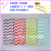 600pcs/lot drinking paper straws,colorful paper party straws for party/wedding decorate 100 kinds color by EMS free shippin