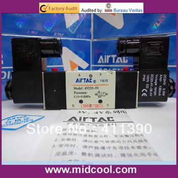 high quality 4V220-08 3 way solenoid valve 12v