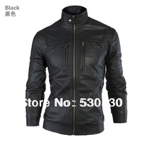 2014 New men clothing Men's leather jackets winter for men Locomotive style slim clothing genuine motorcycle jackets skin big