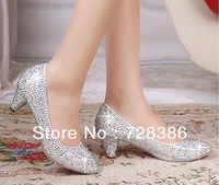 women  prom heels wedding shoes women high heels crystal high heel shoes silver rhinestone pumps