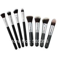 Free Shipping 8 Pieces/lot New Professional SixPlus Powder Blush Foundation Brush Makeup Tool  Cosmetic w/ Black Handle