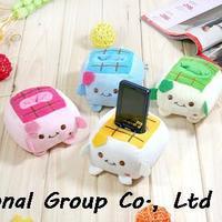 Tofu baby cell phone holder gift cartoon plush phone holder mobile phone case