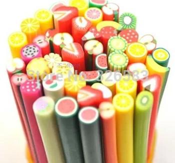 Wholesale - UV Gel Acrylic Design canes professional Nail fruit canes Polish  Different Shapes Christmas& Festival Use 50pcs/LOT