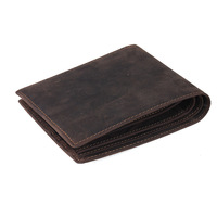 Free shipping  simple bifold wallet men cash coin purse credit card holder gray retro leather wallet TIDIG 4023