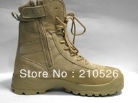 High quality U.S. 5 desert  combat  tactical  Black and tan EUR SIZE 39-45 high military Outdoor travel boots.