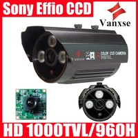 Vanxse CCTV HD 960H/700TVL Sony Effio-E(4140+811) CCD 3 Array IR LED Security camera OSD menu 6mm Surveillance Camera