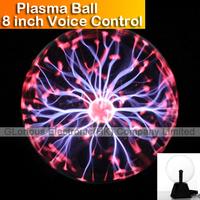 8 inch magic Glass Plasma Updated version  Ball High Quality Sound Motion Plasma Ball DJ Party Disco Light Globe Free Shipping