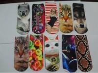 10pieces=5pairs=lot Printed wild cartoon socks boat socks invisible fashion styles