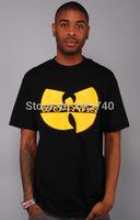 wu tang clan t-shirts hip hop shirts tops free shipping 2014 new style mens t shirt short sleeve cotton hip-hop tee streetwear