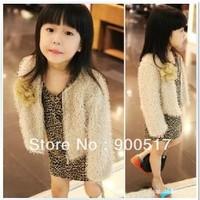 Girls clothes Children  Leopard princess clothes Kids dresses Autumn coat dkazsz  13+24